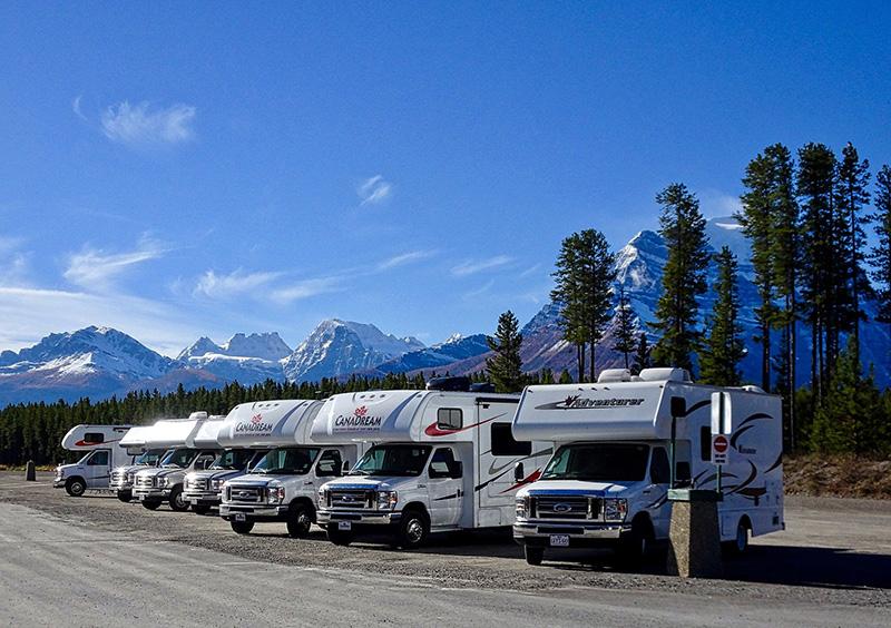 Camping: Viele Wohnmobile