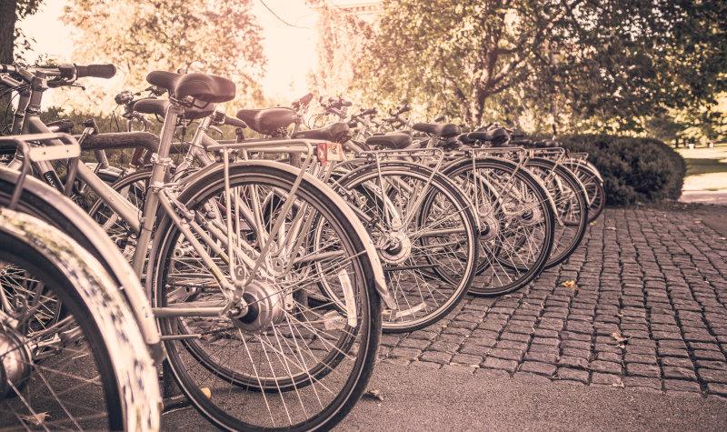 Parken von Fahrrädern