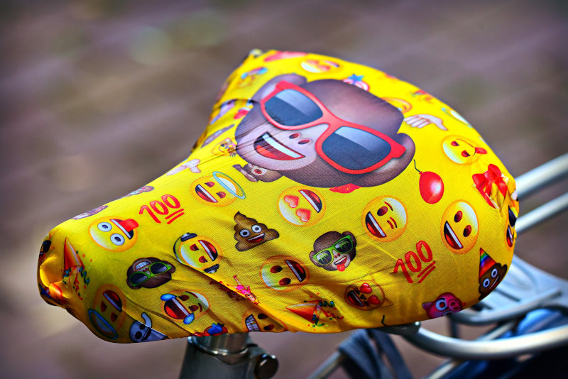 Bedruckter Fahrradsattelbezug