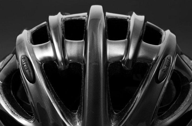 Lüftungsschlitze eines Mountainbike-Helms