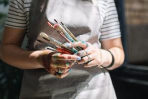 Malschürze zum Schutz beim Malen und Basteln