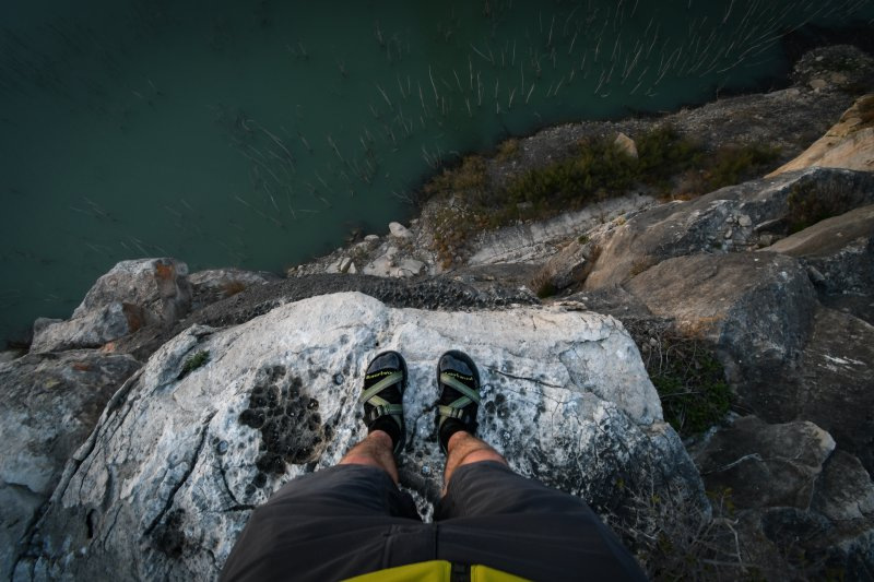 Trekkingsandalen mit Socken