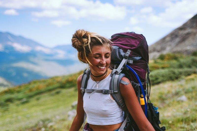 Wanderrucksack Damen für mehrtägige Wandertour