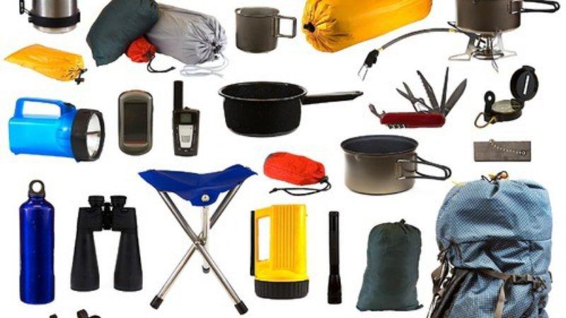 Ausrüstung beim Zelten
