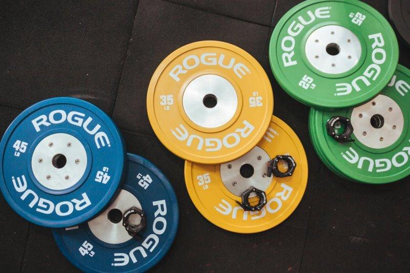 Gewichtsscheiben in unterschiedlichen Gewichtsklassen