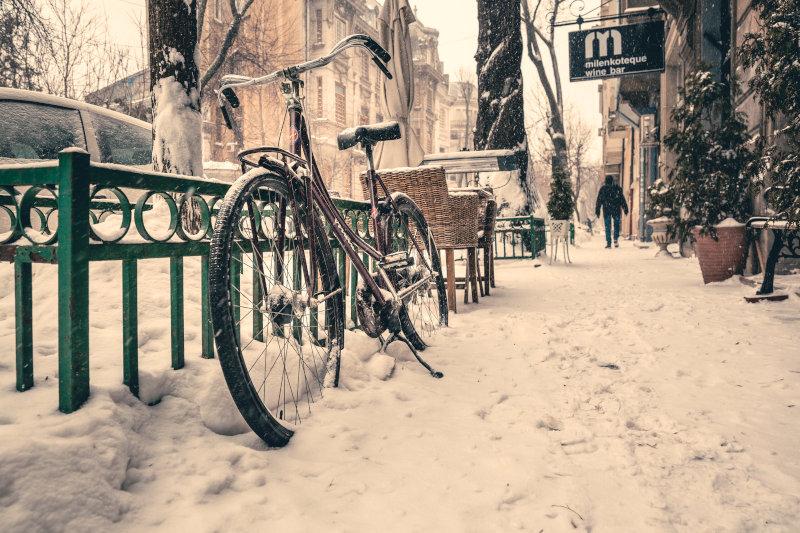 Nabenschaltung bei Schnee