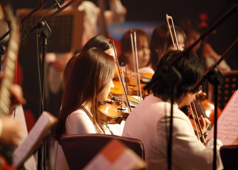 Geige im Orchester