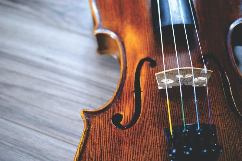Nahaufnahme einer Geige