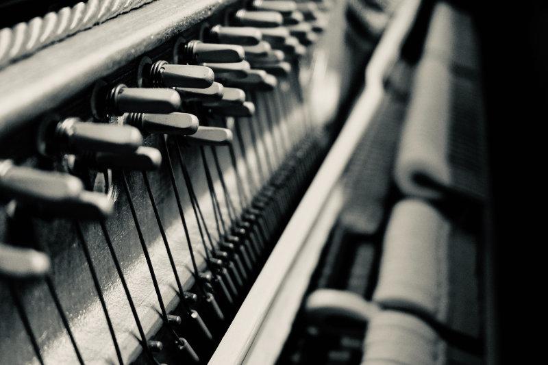 Mechanik im Klavier
