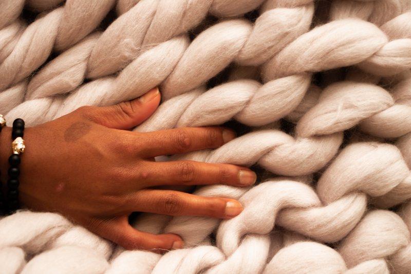 Eine Decke aus Merinowolle