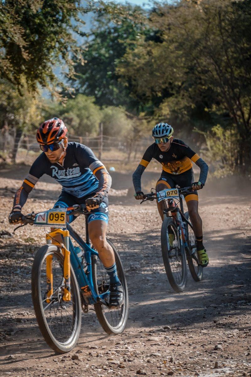 MTB-Radfahrer Enduro Modalität