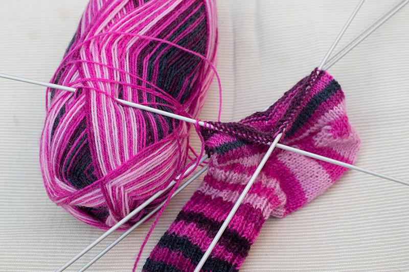Nadelspiel Socke