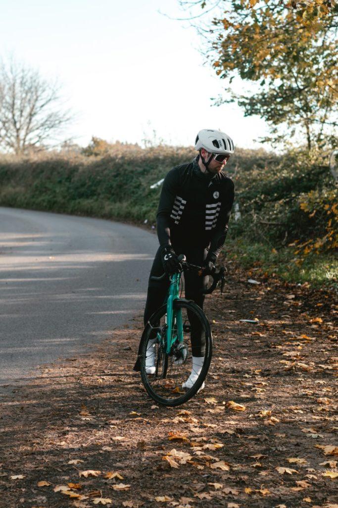 Zwiebelprinzip beim Radfahren im Winter