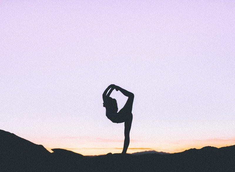 Yoga Schatten Flexibilität