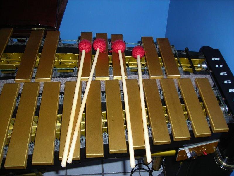 Mallets auf einem Vibraphon