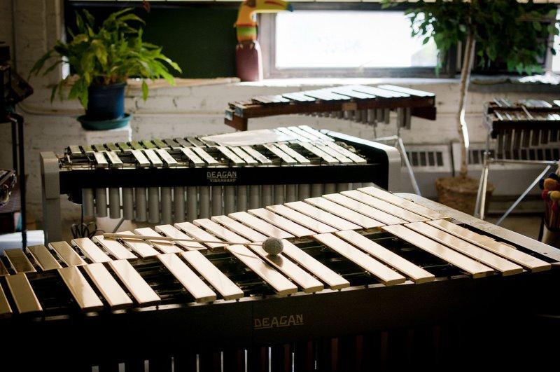 Mehrere Vibraphone ausgestellt