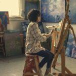 Malen mit Atelierstaffelei