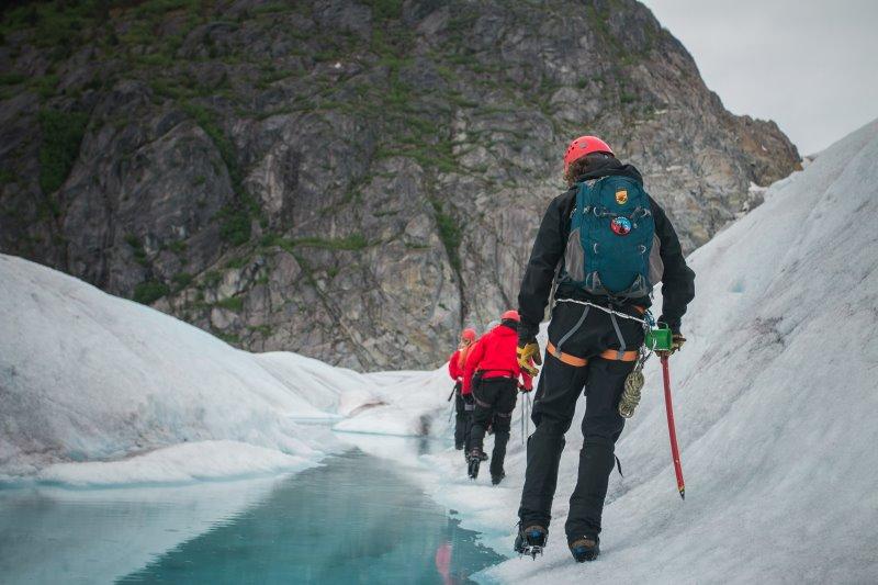 Bergtouren mit Eispickel