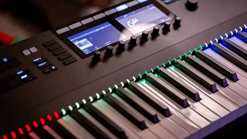 Display einer elektronischen Orgel