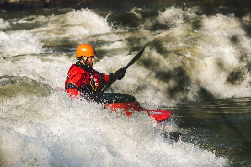 Kajak Spritzdecke in Wildwassertour