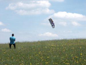 Lenkdrachen fliegen