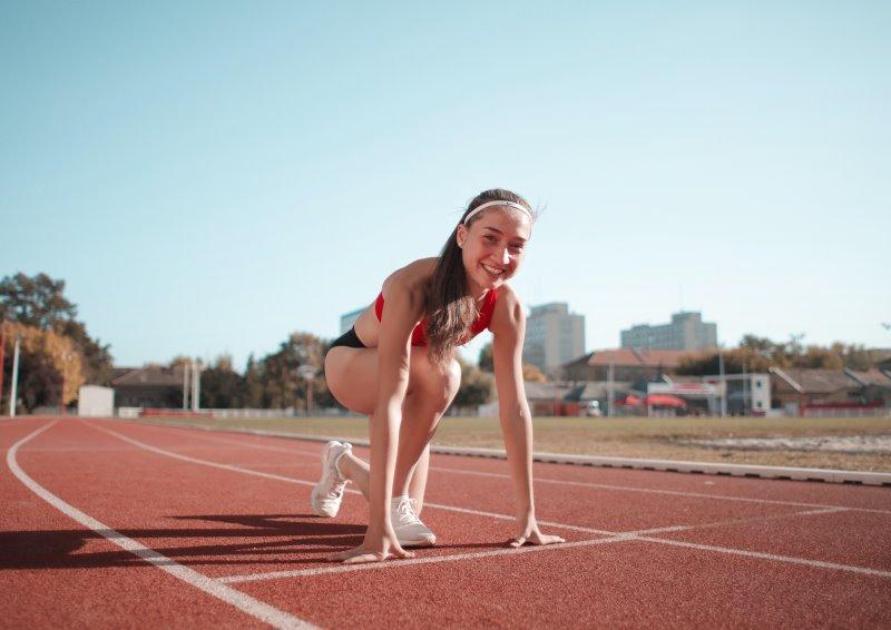 Sport-Haarband beim Laufen