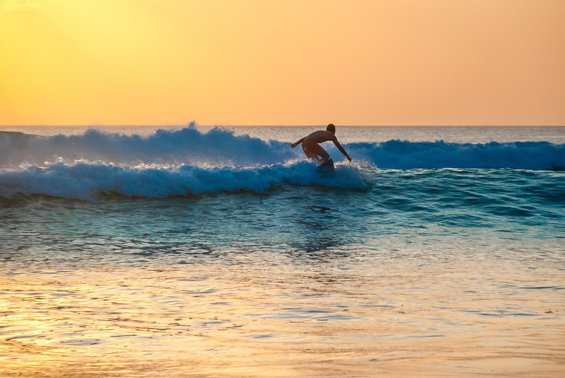 Welle surfen