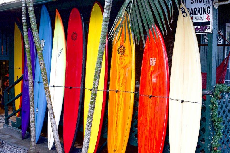 Surfbretter in verschiedenen Formen