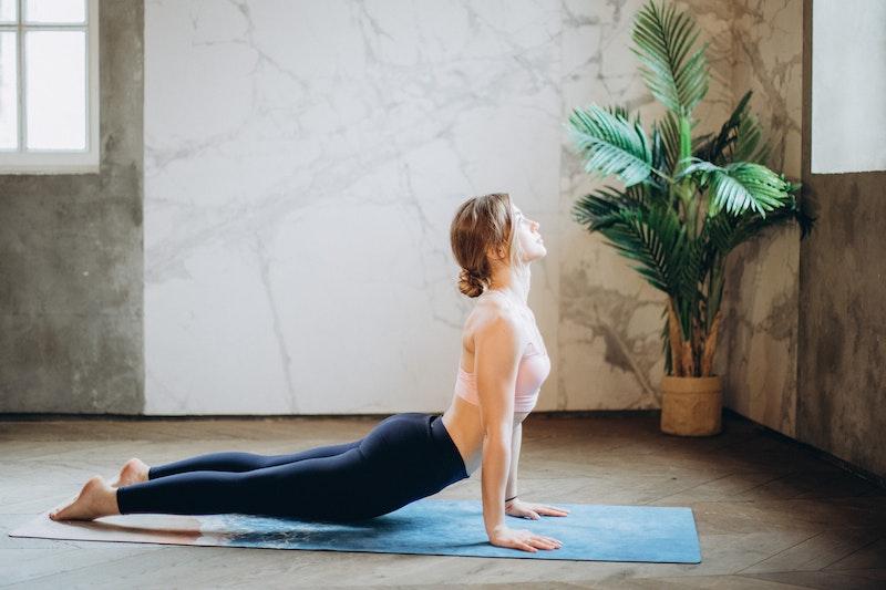 Yoga Übung: Kobra