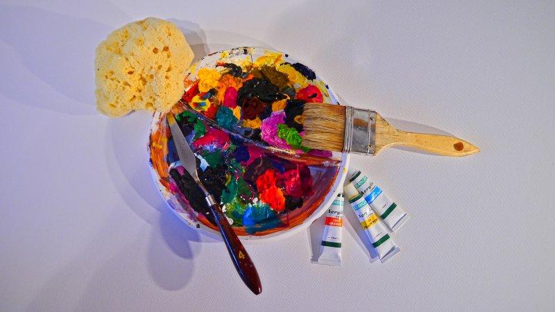 Werkzeuge der Acrylmalerei