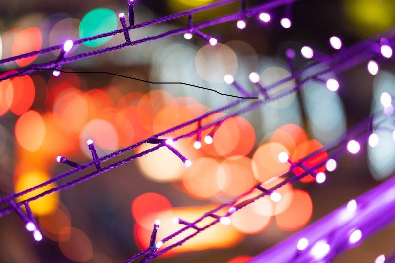 knallige Farbe von einer LED-Lichterkette