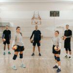 Volleyball Team in der Halle