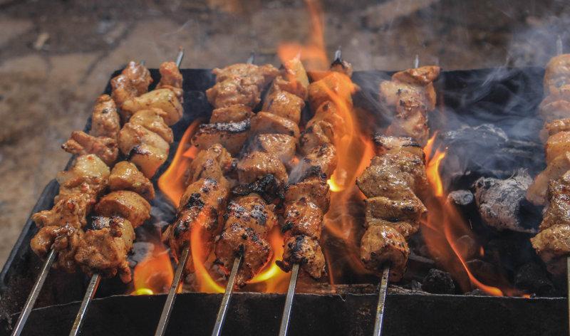 Hitze beim Grillen