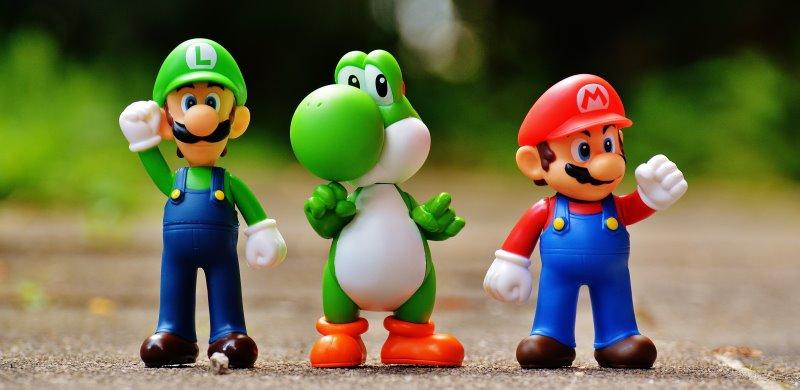 Super Mario wird oft als Design verwendet