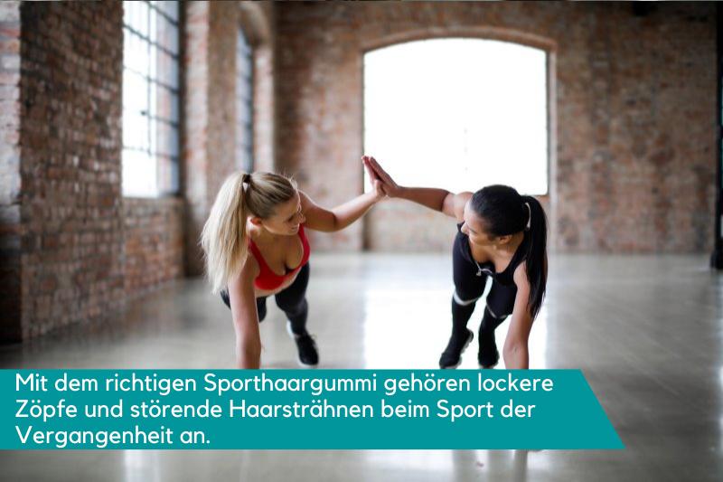 2 Frauen machen gemeinsam Sport