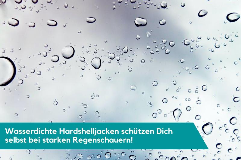 Wasserdichte Hardshelljacken Infografik