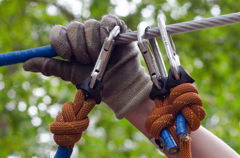 Kletterhandschuhe für das Absichern