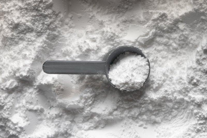 Pulver L-Carnitin mit einem Scoop