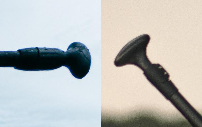 Zwei unterschiedliche SUP Paddel Griffe