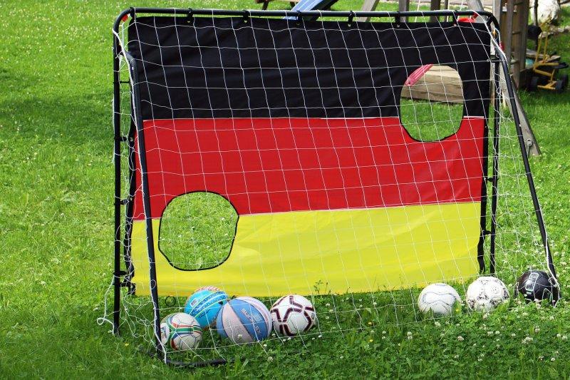 Fußballtor im Test