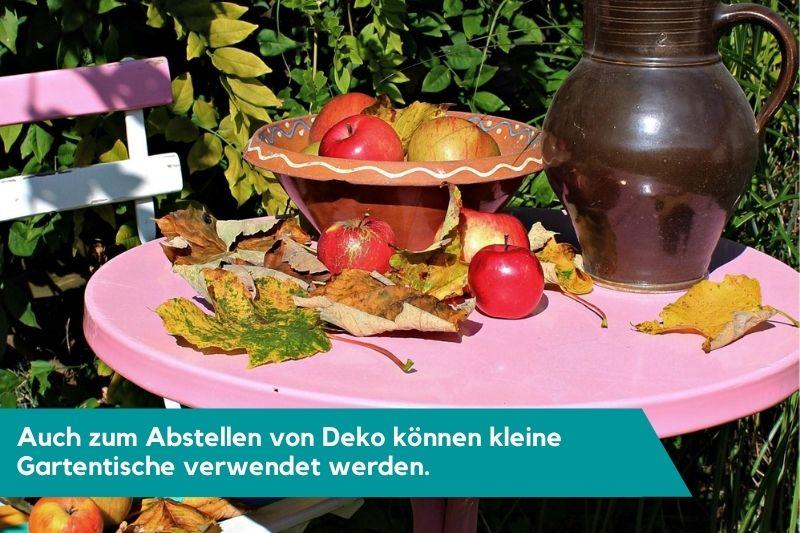 Gartentisch Deko