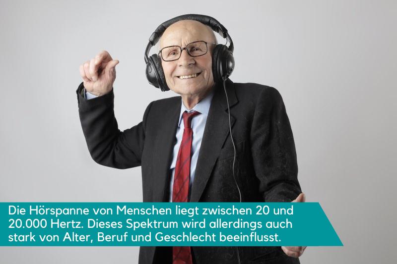 Die Hörspanne von Menschen wird von Alter, Beruf und Geschlecht beeinflusst.
