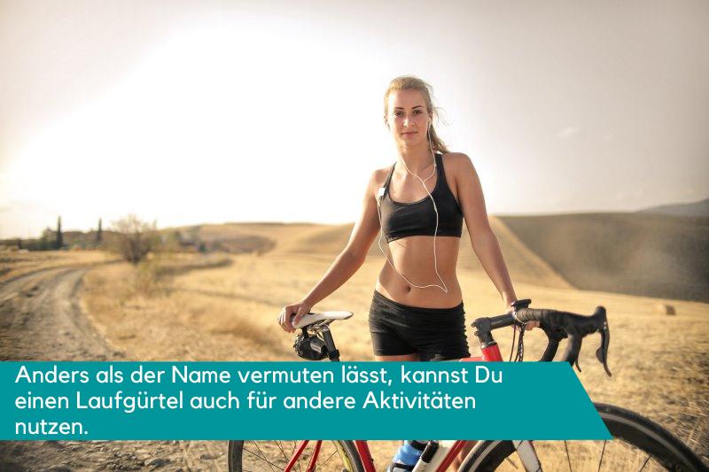 Nutzung des Laufgürtels beim Fahrradfahren