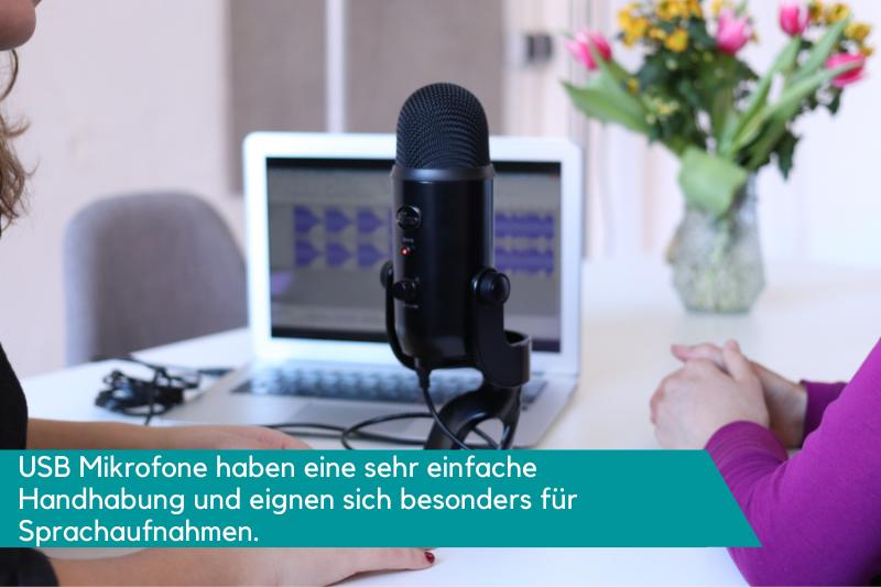 USB Mikrofon für Sprachaufnahme