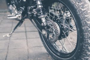 Die Kette eines Motorrades