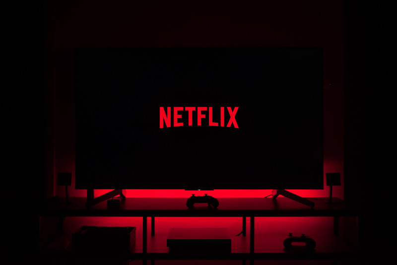 Hier sieht man den Netflix Startbildschirm