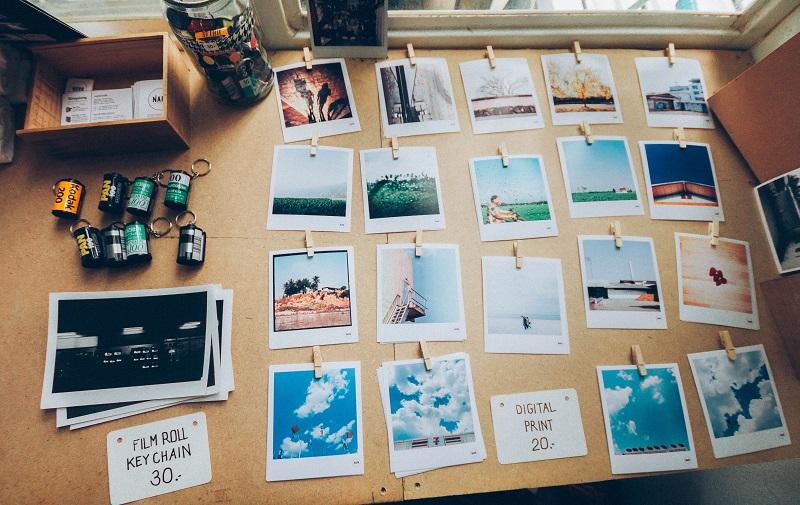 Bilderrahmen mit Polaroids