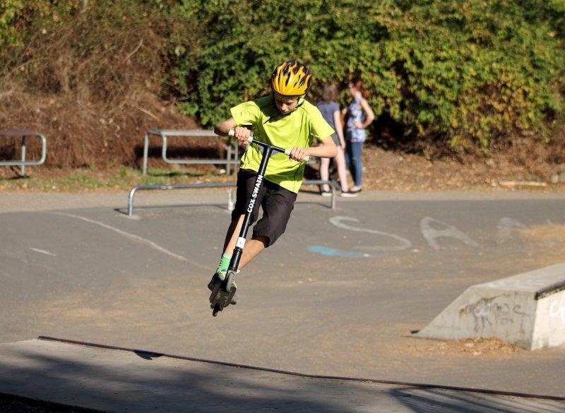 Stunt Scooter Sprung