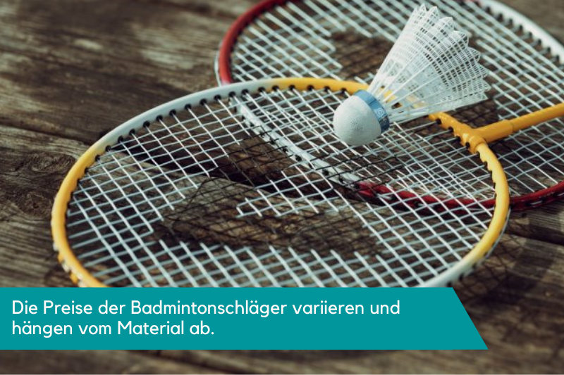 Zwei Badmintonschläger und ein Federball