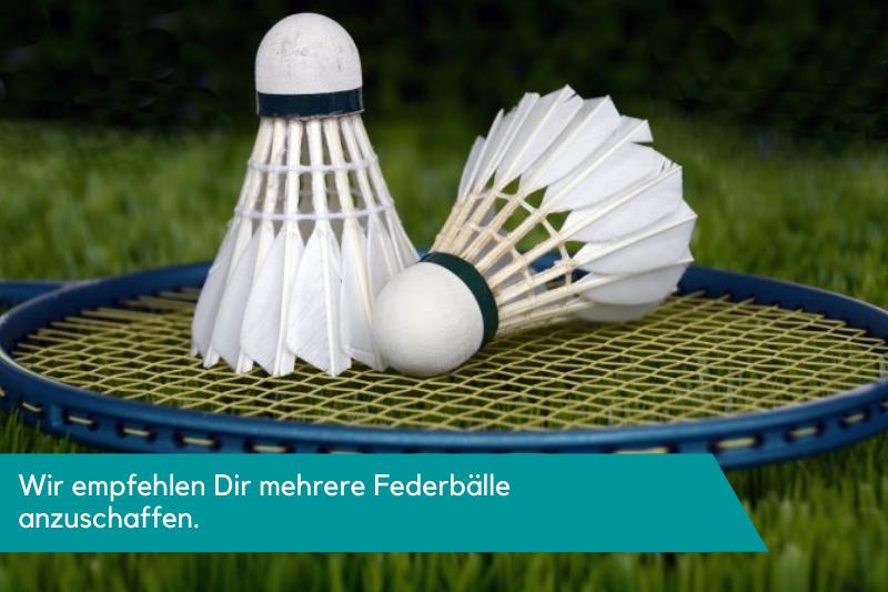 Federbälle und ein Badmintonschläger
